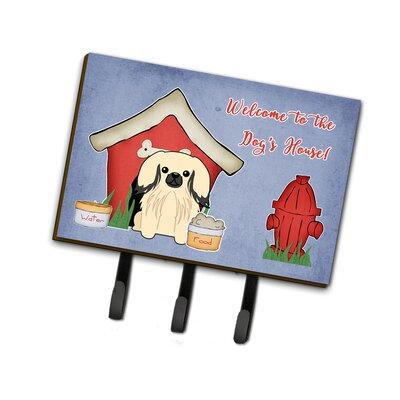 Dog House Pekingese Leash or Key Holder Finish: Cream