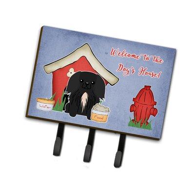 Dog House Pekingese Leash or Key Holder Finish: Black