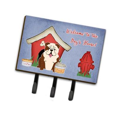 Dog House English Bulldog Brindle Leash or Key Holder