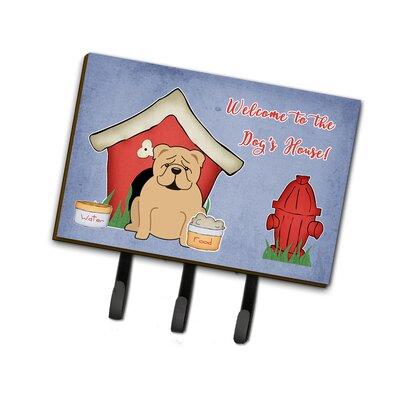 Dog House English Bulldog Fawn Leash or Key Holder