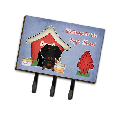 Dog House Wire Haired Dachshund Leash or Key Holder