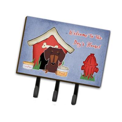 Dog House Dachshund Leash or Key Holder Finish: Chocolate