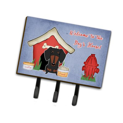 Dog House Dachshund Leash or Key Holder Finish: Black