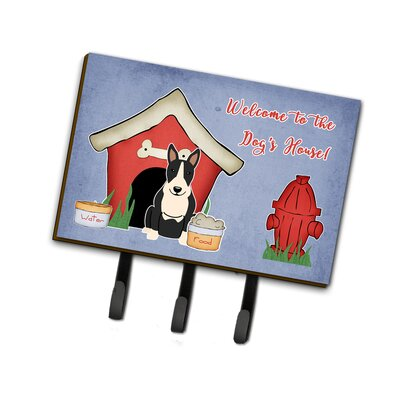 Dog House Bull Terrier Leash or Key Holder