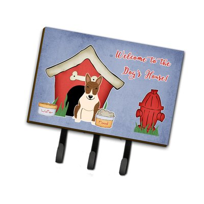 Dog House Bull Terrier Brindle Leash or Key Holder Finish: Light Brown