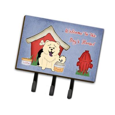 Dog House Chow Chow Leash or Key Holder Finish: White