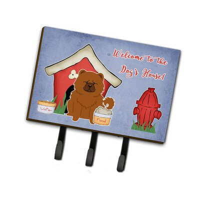 Dog House Chow Chow Leash or Key Holder Finish: Red