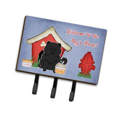 Dog House Chow Chow Leash or Key Holder Finish: Black