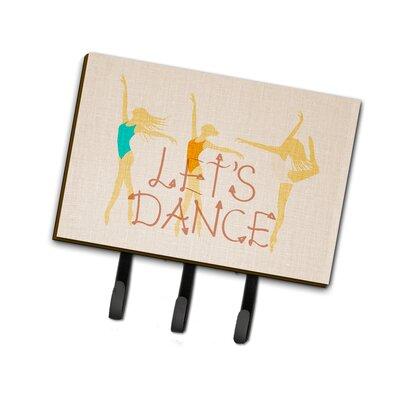 Let's Dance Linen Leash or Key Holder with Metal Framed