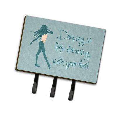 Dancing is Like Dreaming Leash or Key Holder Finish: Blue