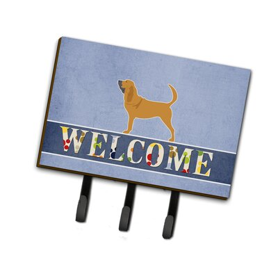 Bloodhound Welcome Leash or Key Holder