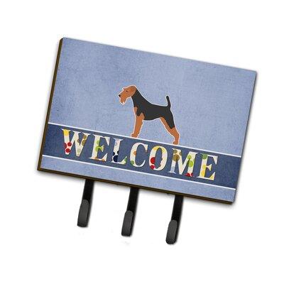 Welsh Terrier Welcome Leash or Key Holder
