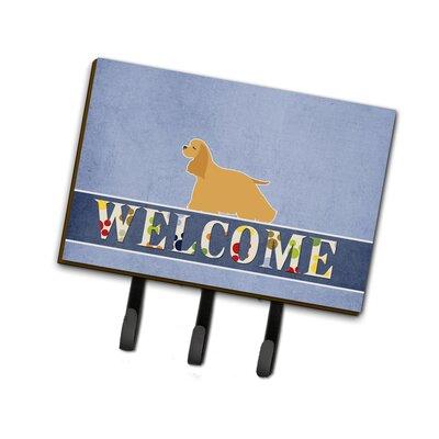 Cocker Spaniel Welcome Leash or Key Holder