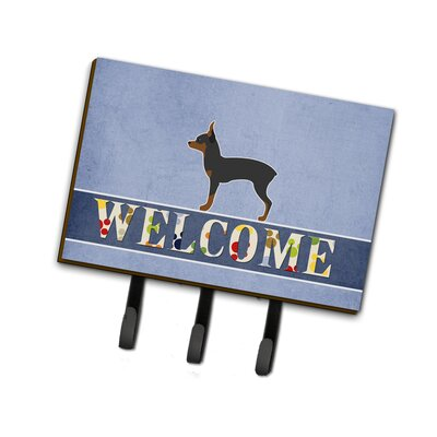 Toy Fox Terrier Welcome Leash or Key Holder