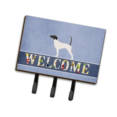 English Pointer Welcome Leash or Key Holder