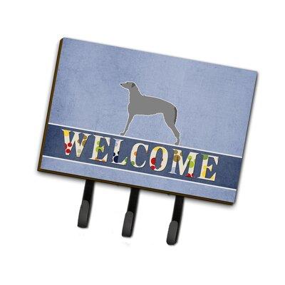 Scottish Deerhound Welcome Leash or Key Holder