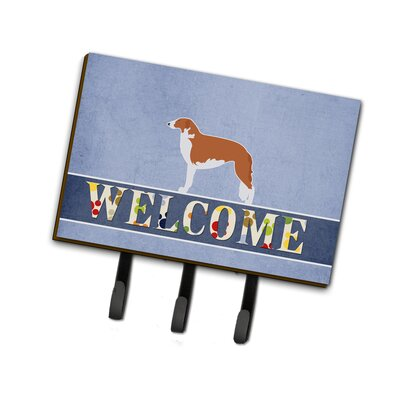 Borzoi Russian Greyhound Welcome Leash or Key Holder