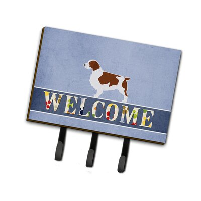 Welsh Springer Spaniel Welcome Leash or Key Holder