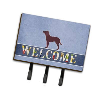 American Water Spaniel Welcome Leash or Key Holder