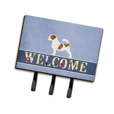 Jack Russell Terrier Welcome Leash or Key Holder