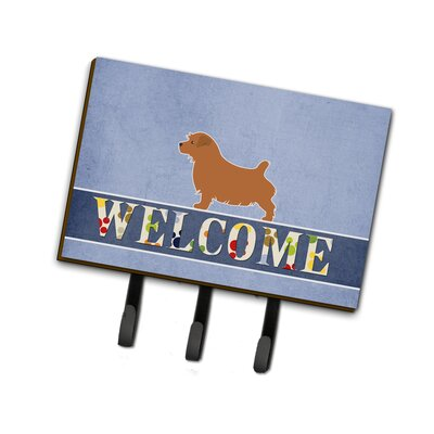 Norfolk Terrier Welcome Leash or Key Holder