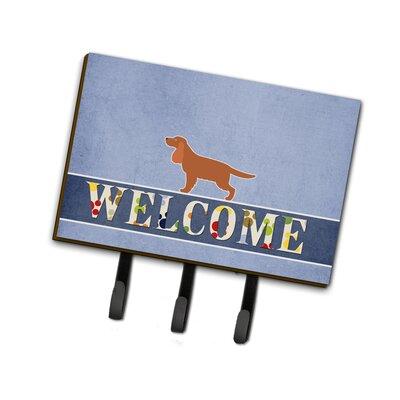 English Cocker Spaniel Welcome Leash or Key Holder