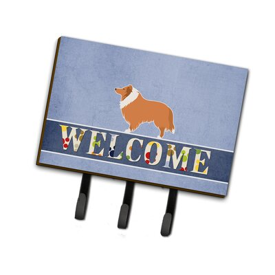 Collie Welcome Leash or Key Holder