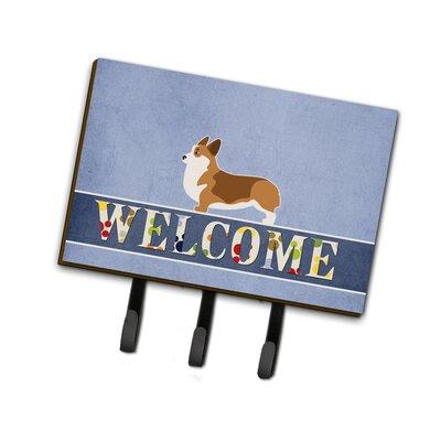 Corgi Welcome Leash or Key Holder