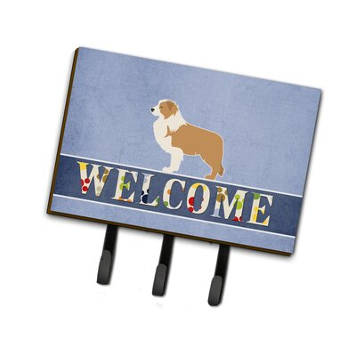 Border Collie Welcome Leash or Key Holder