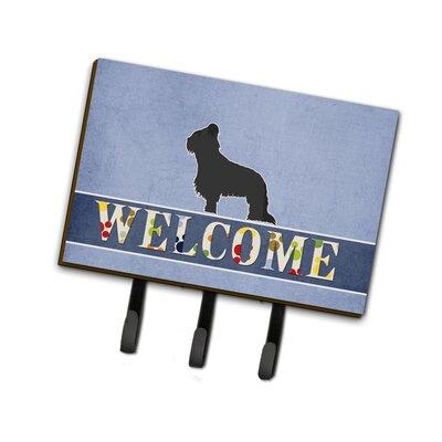 Briard Welcome Leash or Key Holder