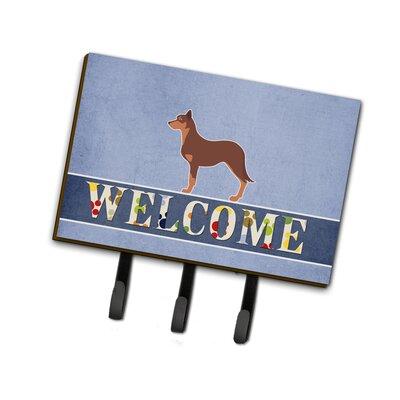 Australian Kelpie Dog Welcome Leash or Key Holder