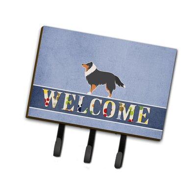 Shetland Sheepdog Welcome Leash or Key Holder