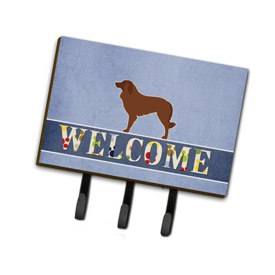 Portuguese Sheepdog Dog Welcome Leash or Key Holder