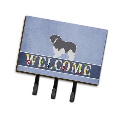 Polish Lowland Sheepdog Dog Welcome Leash or Key Holder