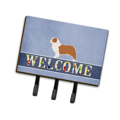 Australian Shepherd Dog Welcome Leash or Key Holder