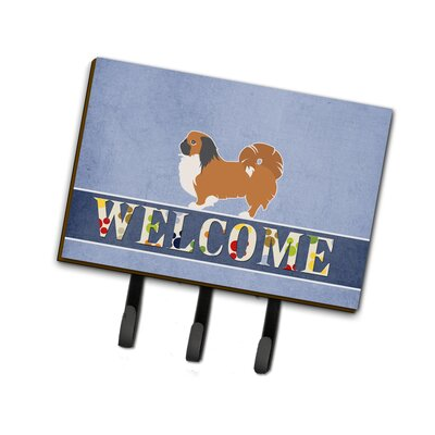 Pekingese Welcome Leash or Key Holder
