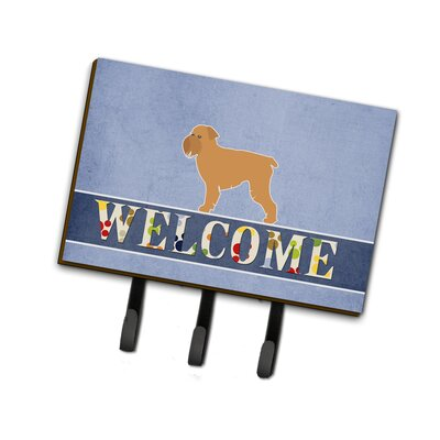 Brussels Griffon Welcome Leash or Key Holder
