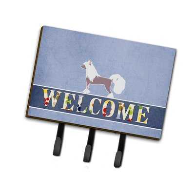 Chinese Crested Welcome Leash or Key Holder