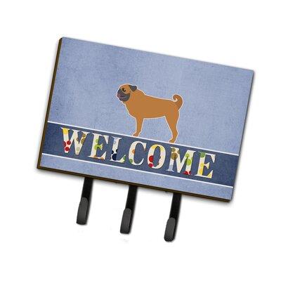 Pug Welcome Leash or Key Holder