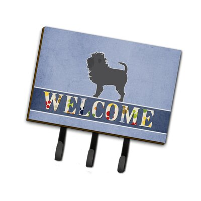 Affenpinscher Welcome Leash or Key Holder
