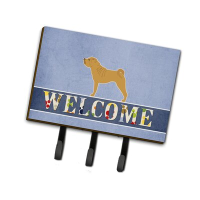 Shar Pei Merry Welcome Leash or Key Holder