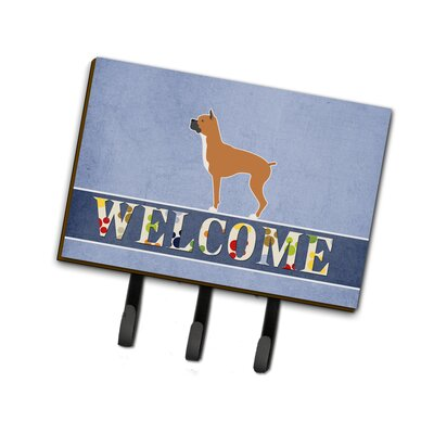 Boxer Welcome Leash or Key Holder