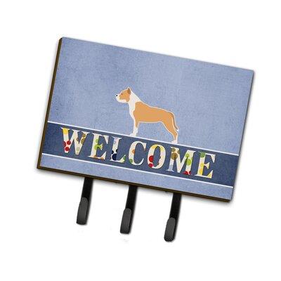 Staffordshire Bull Terrier Welcome Leash or Key Holder