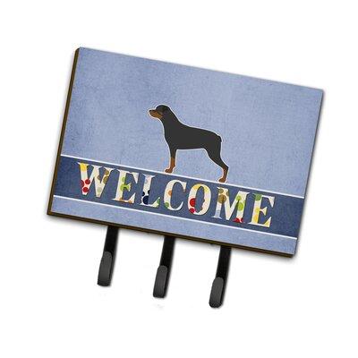 Rottweiler Welcome Leash or Key Holder