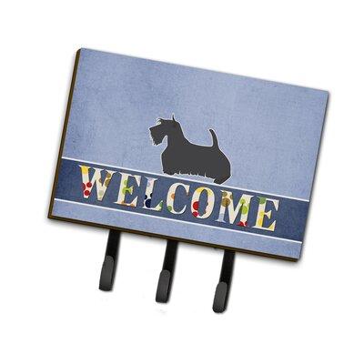Scottish Terrier Welcome Leash or Key Holder
