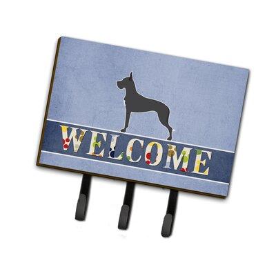 Great Dane Welcome Leash or Key Holder