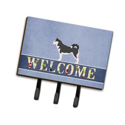 Siberian Husky Welcome Leash or Key Holder