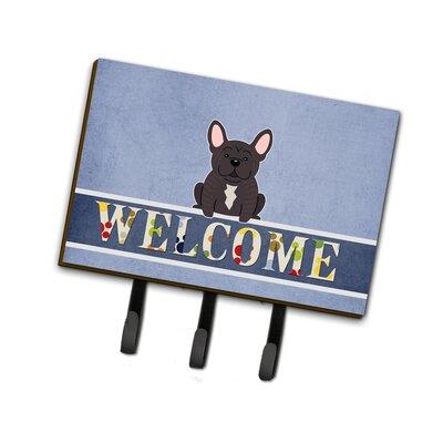 French Bulldog Brindle Welcome Leash or Key Holder
