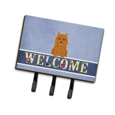 Norwich Terrier Welcome Leash or Key Holder