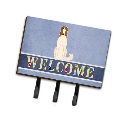 Borzoi Welcome Leash or Key Holder